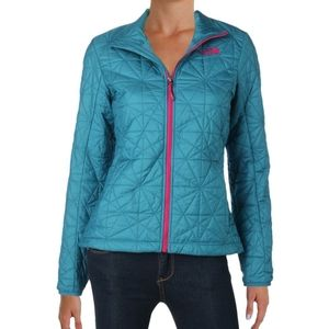 North Face Teal Turquoise Quilted Jacked